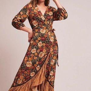 Anthropologie Rio Farm Wrap Dress